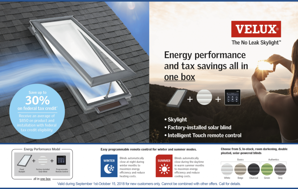 Free Energy Performance Velux Skylight