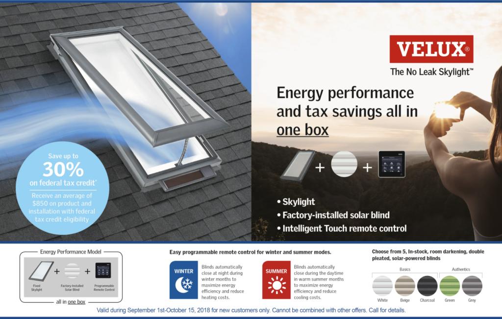 Free Energy Performance Velux Skylight
